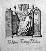 exlibris bookplate for E.Destinnova